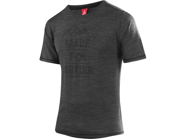 Löffler Merino CF T-shirt à motif Homme, grey/melange